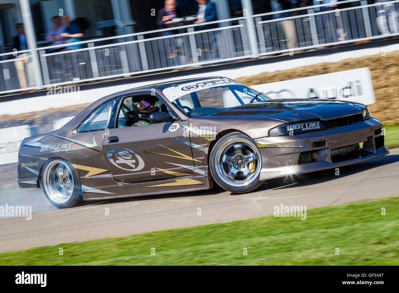 Nissan Skyline Drift Car With Driver Martin Richards At The