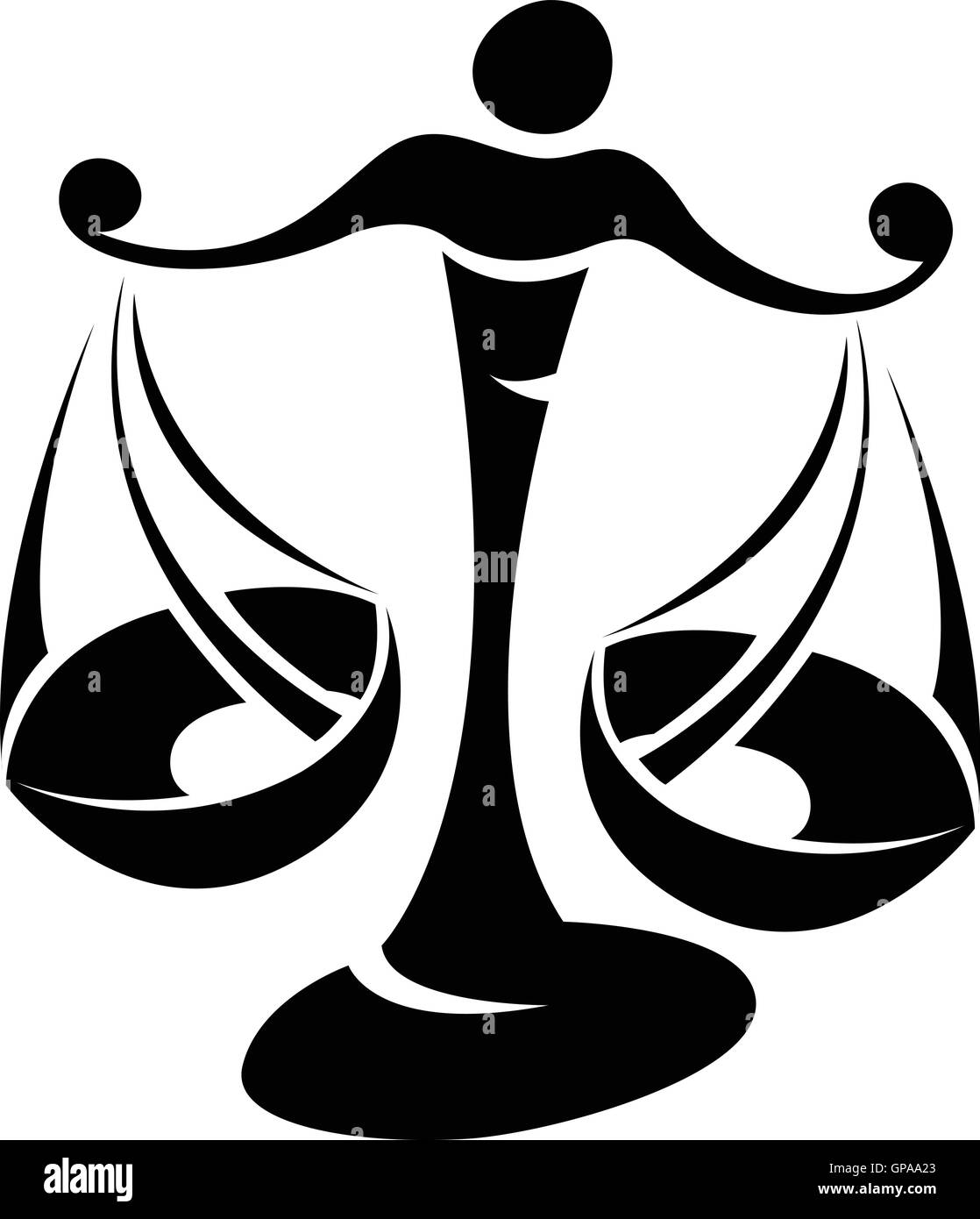 illustration of black libra zodiac star sign isolated on a