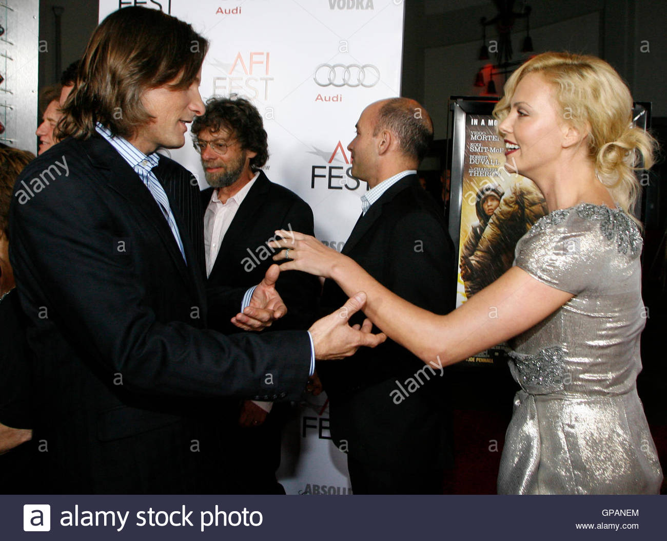 l r actor danny stock photos l r actor danny stock images alamy actor viggo mortensen l and south african actress charlize theron r attend
