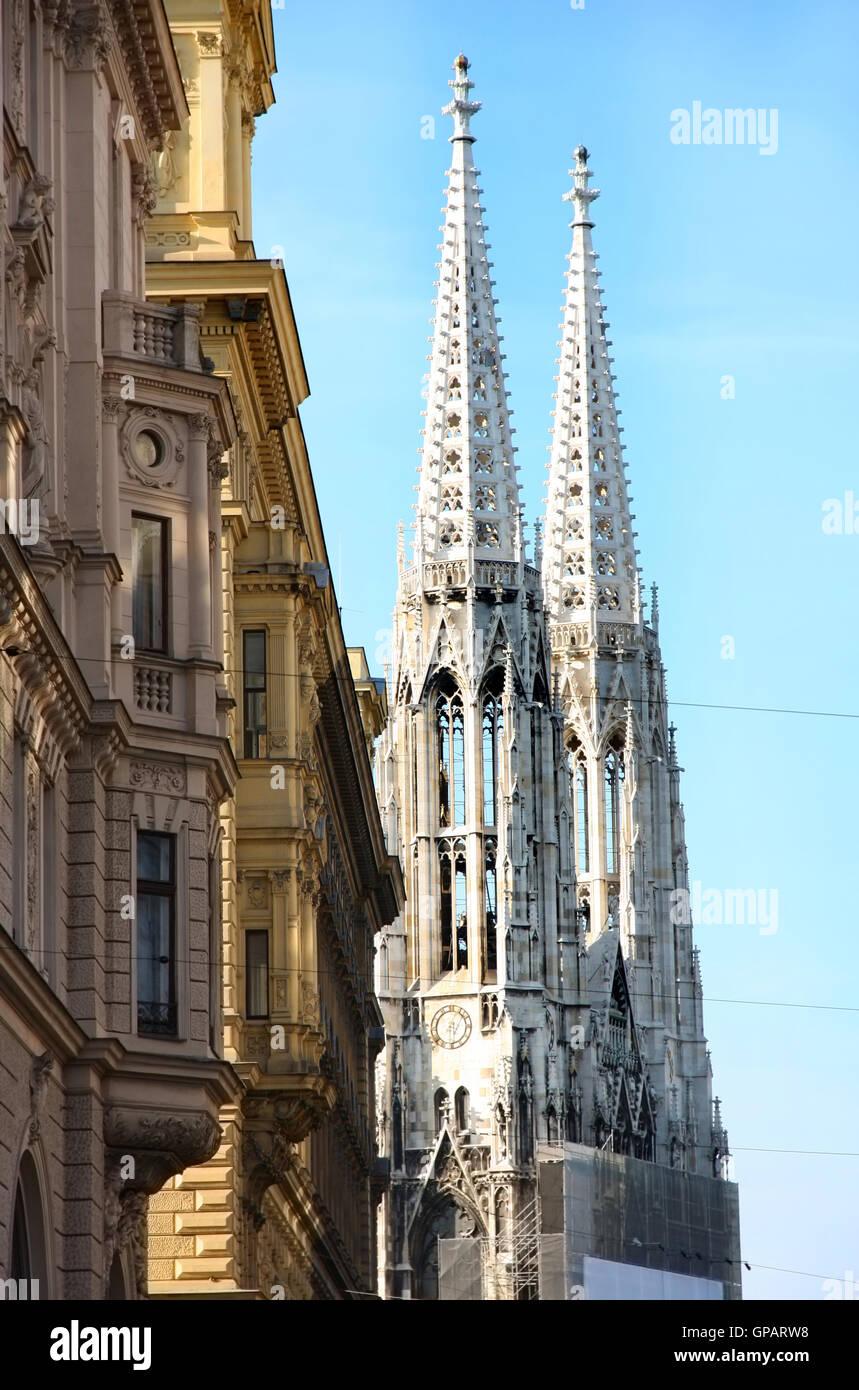 The Ring Vienna S Casual Luxury Hotel Vienna: Votivkirche In Vienna, Austria Stock Photo, Royalty Free