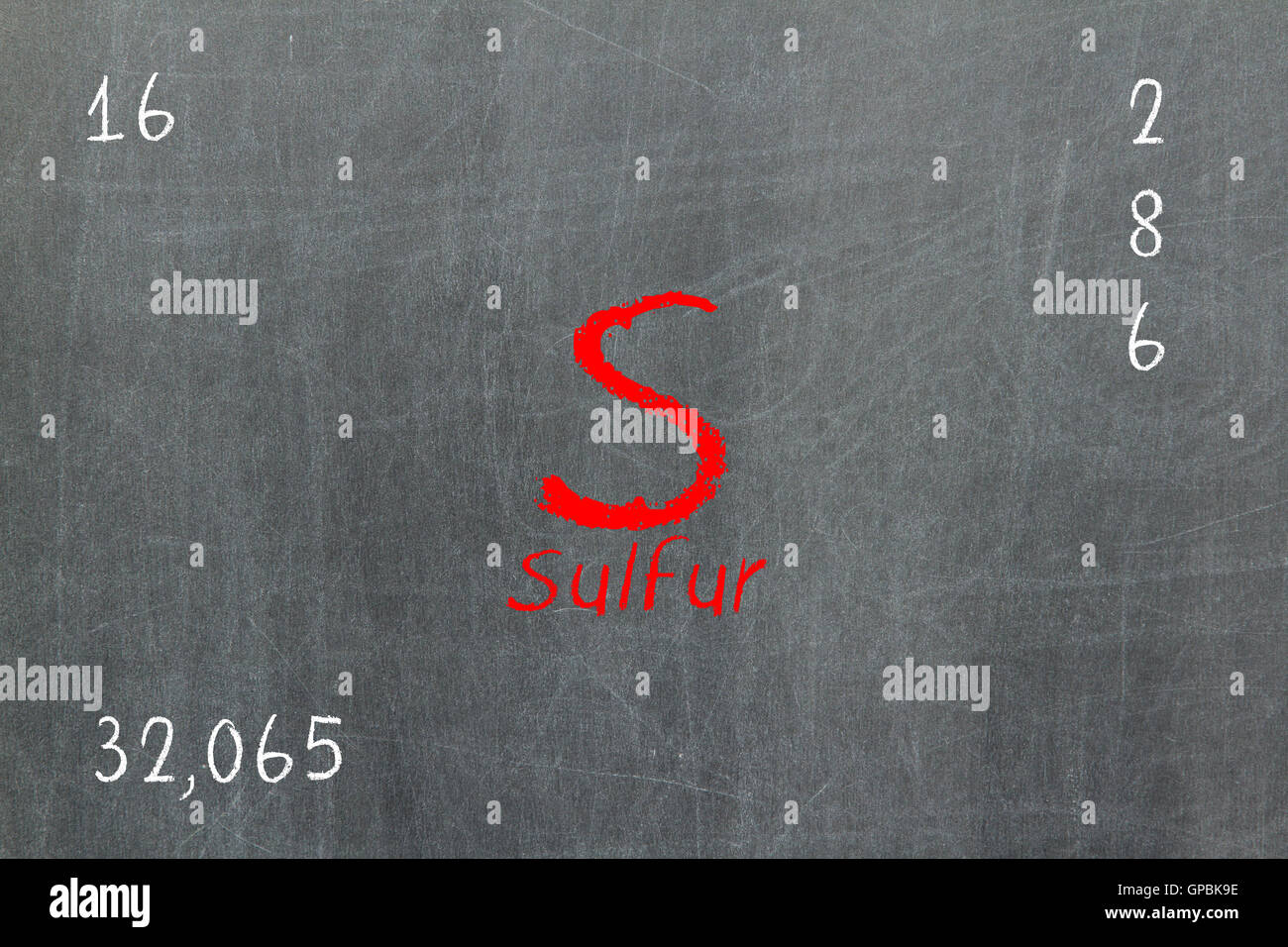 Isolated blackboard with periodic table sulfur stock photo isolated blackboard with periodic table sulfur gamestrikefo Choice Image