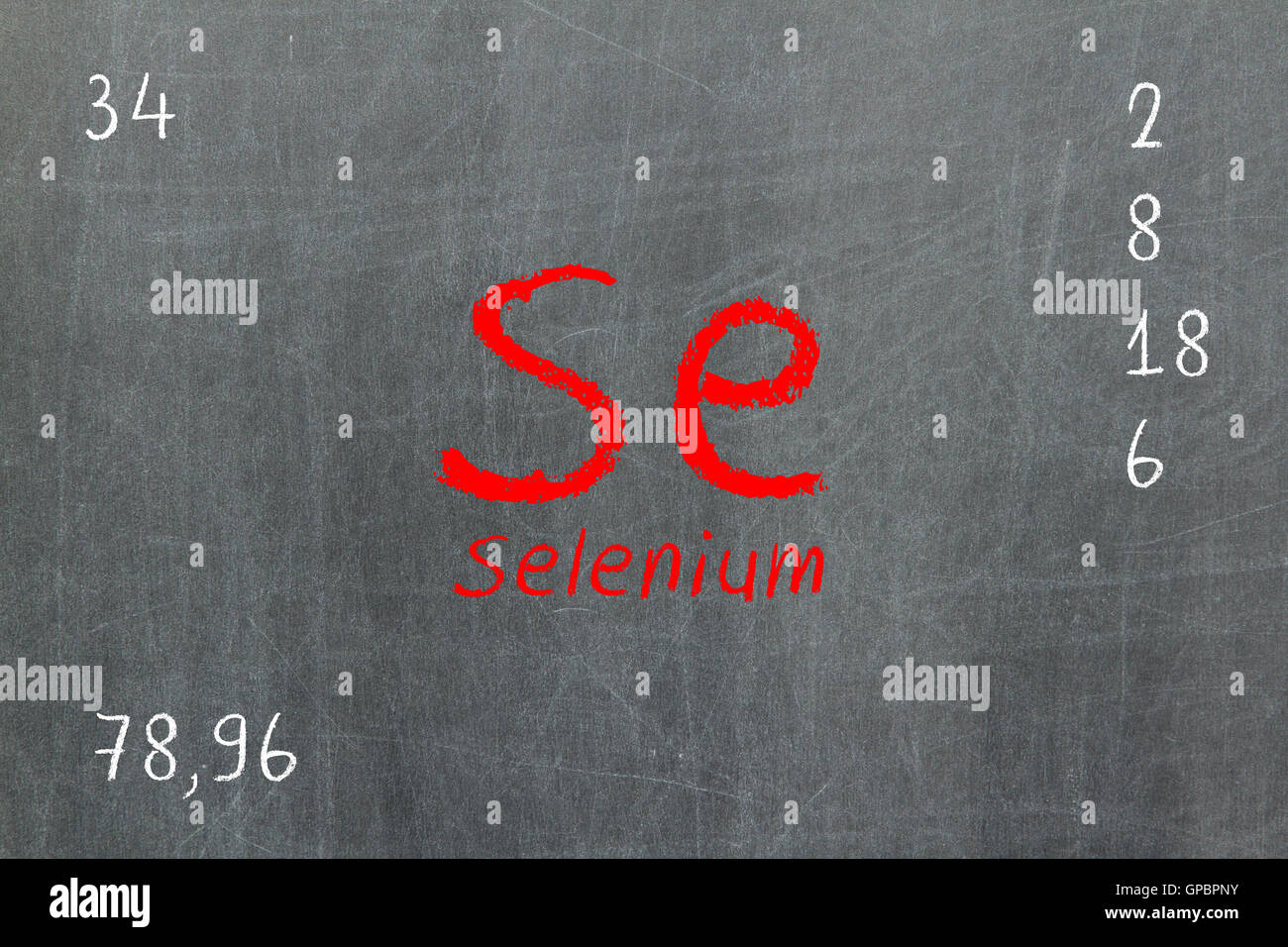 Isolated blackboard with periodic table selenium stock photo isolated blackboard with periodic table selenium gamestrikefo Images