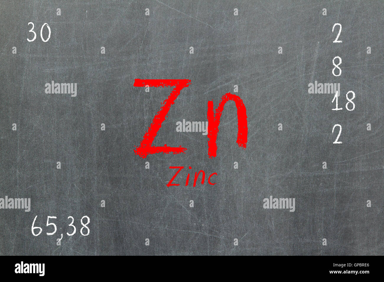 Isolated blackboard with periodic table zinc stock photo royalty isolated blackboard with periodic table zinc gamestrikefo Image collections
