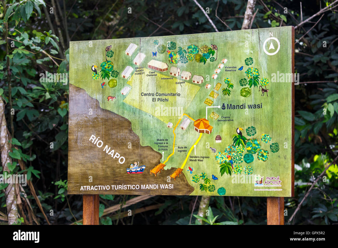Worksheet. Map of the location of Pilchi Community on the Napo River an