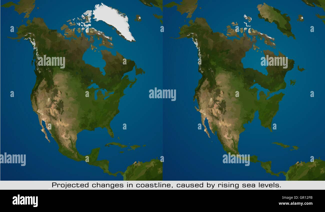 Global warming coastline diagram stock photo 117423247 alamy global warming coastline diagram pooptronica Images