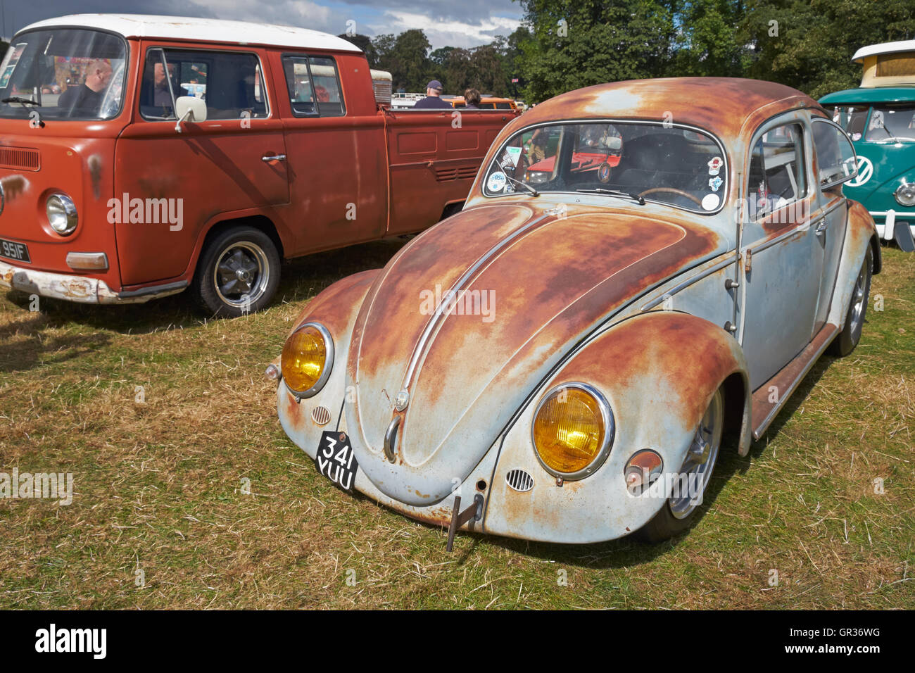 A \'rat look\' lowered VW Beetle at the Viva Skeg Vegas Classic VW ...
