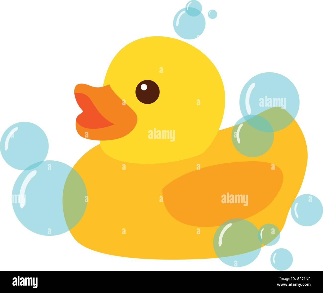 Yellow Rubber Duck Icon Vector Illustration Clipart Stock Vector ...