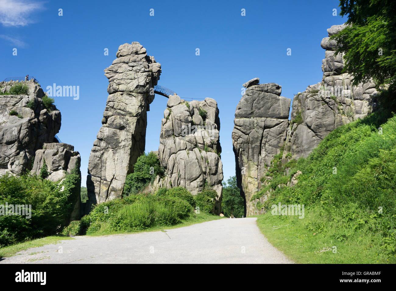 Horn Bad externsteine sandstone rock formations horn bad meinberg