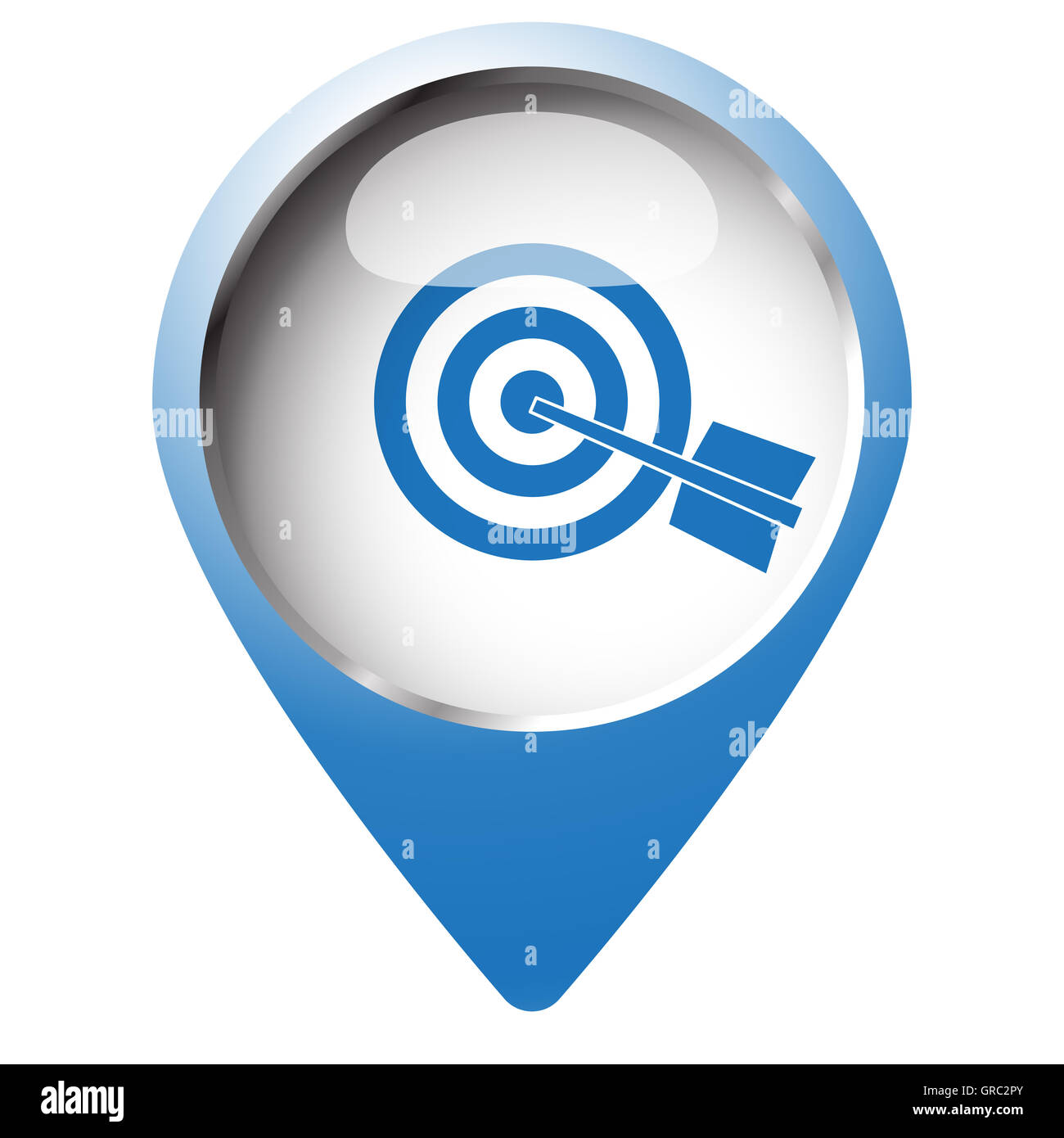 Map pin symbol with target icon blue symbol on white background map pin symbol with target icon blue symbol on white background buycottarizona Image collections