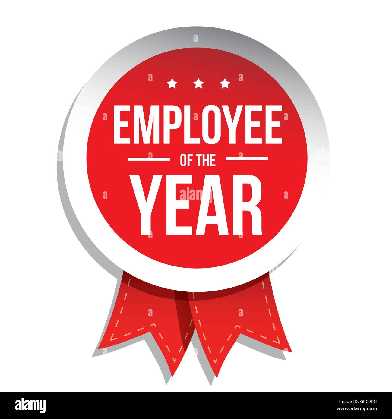 Employee of the year label or stamp with red ribbon stock vector employee of the year label or stamp with red ribbon 1betcityfo Images