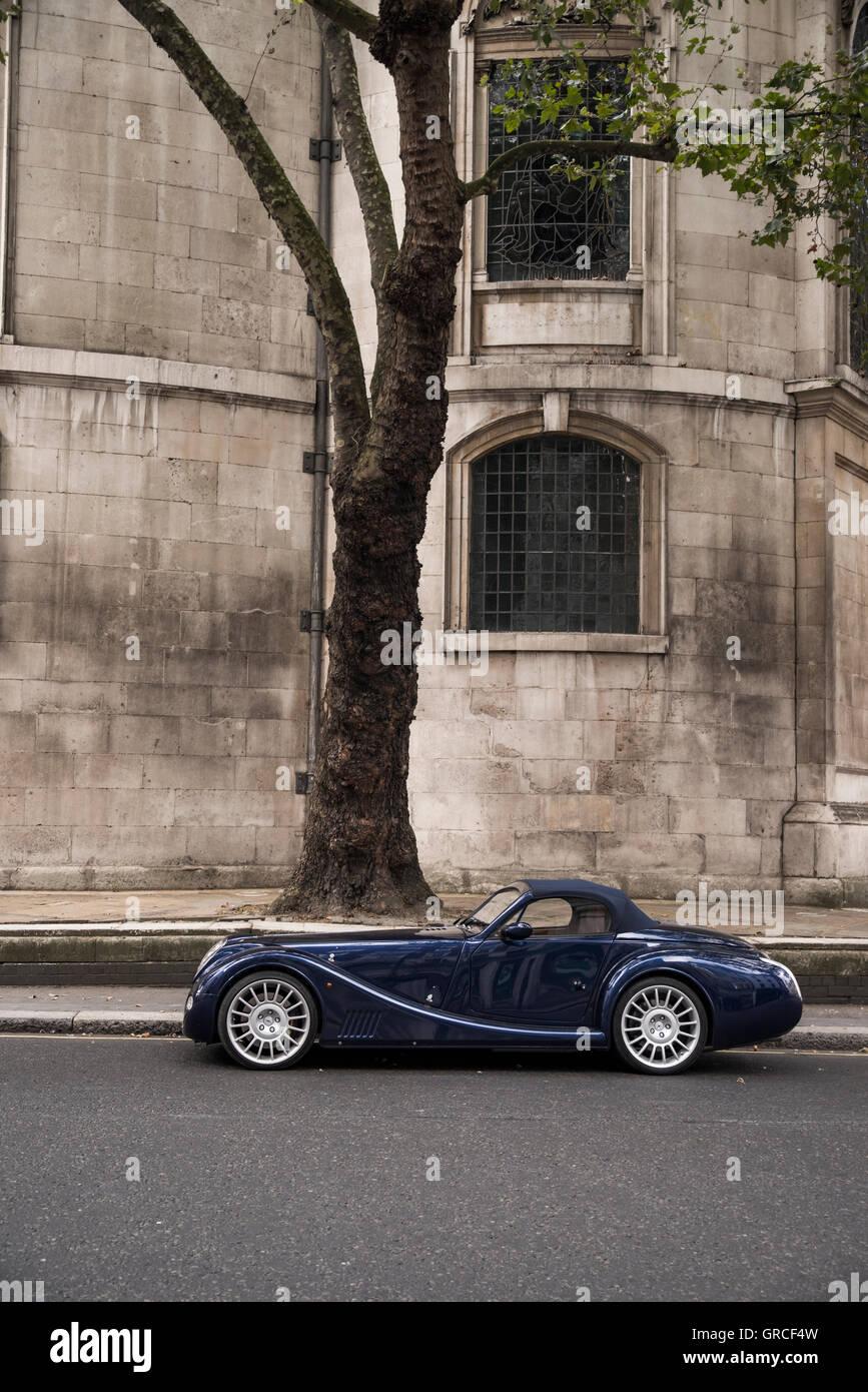 Morgan Aero 8 Sports Car On The Strand London England Stock