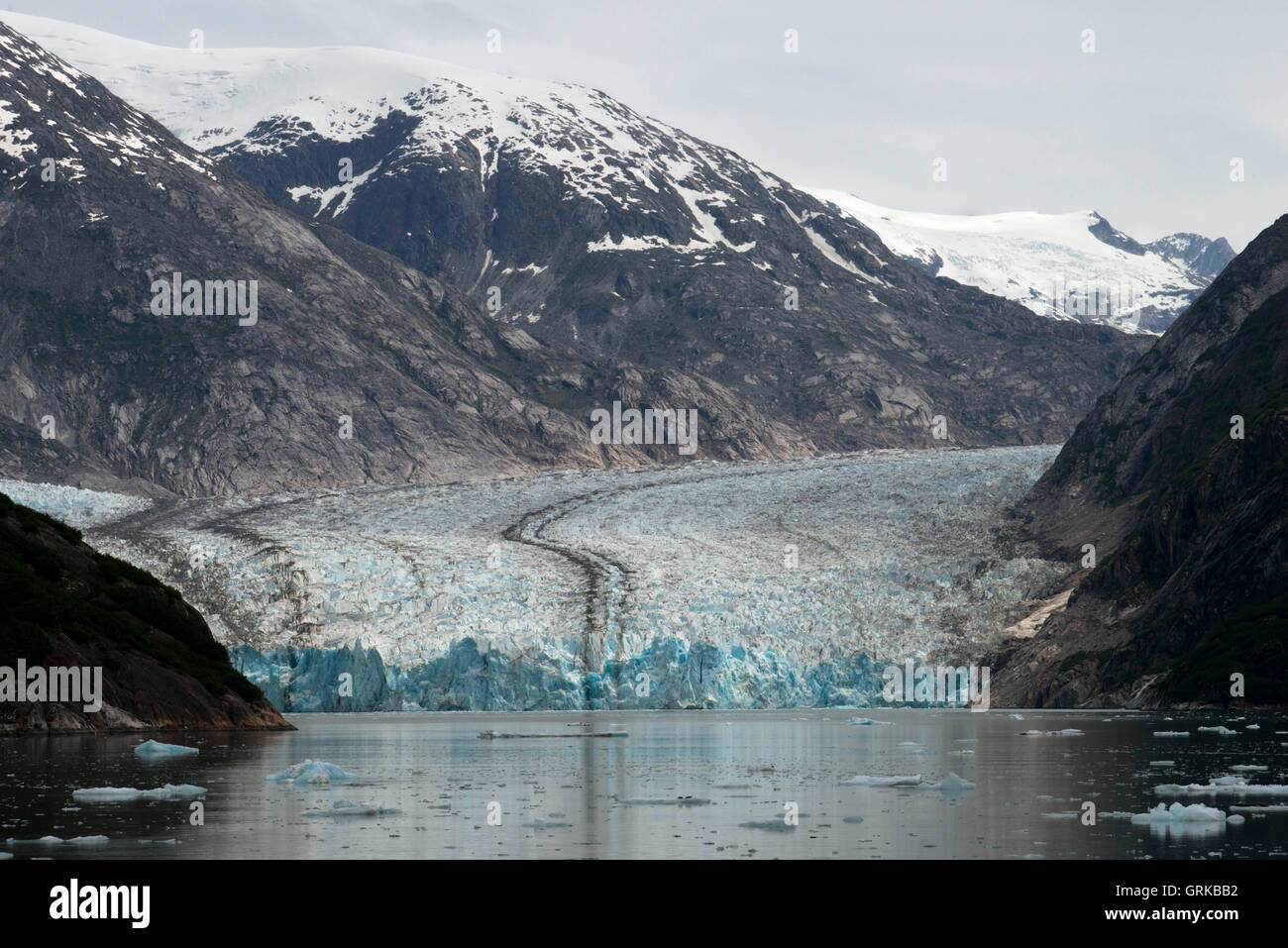 South Sawyer Glacier Calves Into The Endicott Arm Fjord Of Tracy - Tracy arm fjord