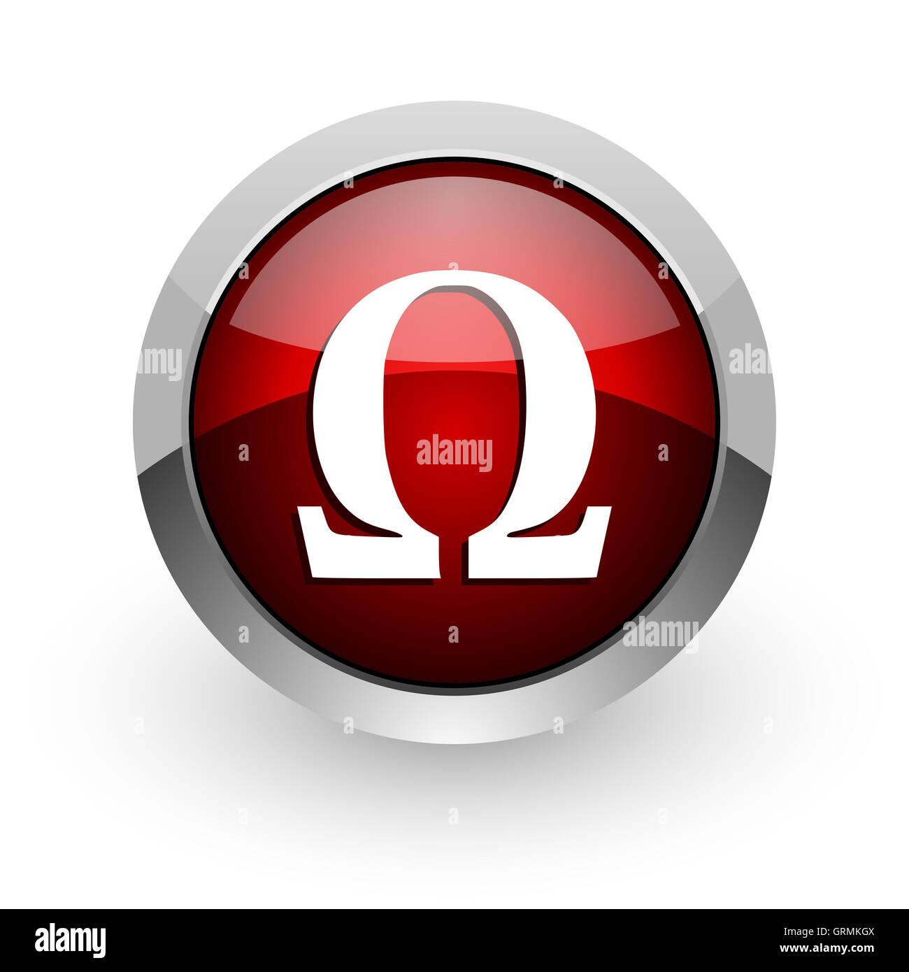 Omega red circle web glossy icon stock photo royalty free image omega red circle web glossy icon buycottarizona