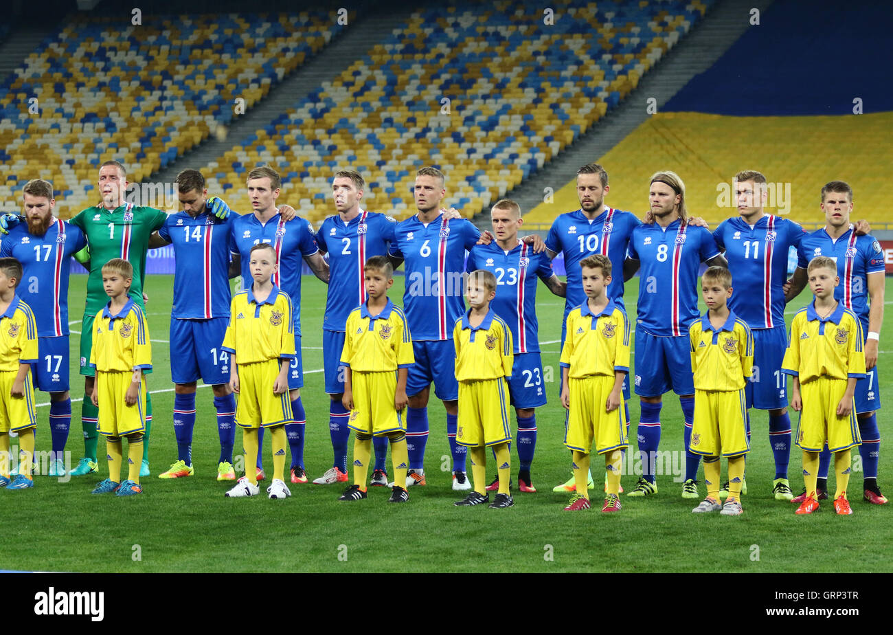 Players of national football team of iceland listen national anthems players of national football team of iceland listen national anthems before fifa world cup 2018 qualifying game against ukraine biocorpaavc Choice Image