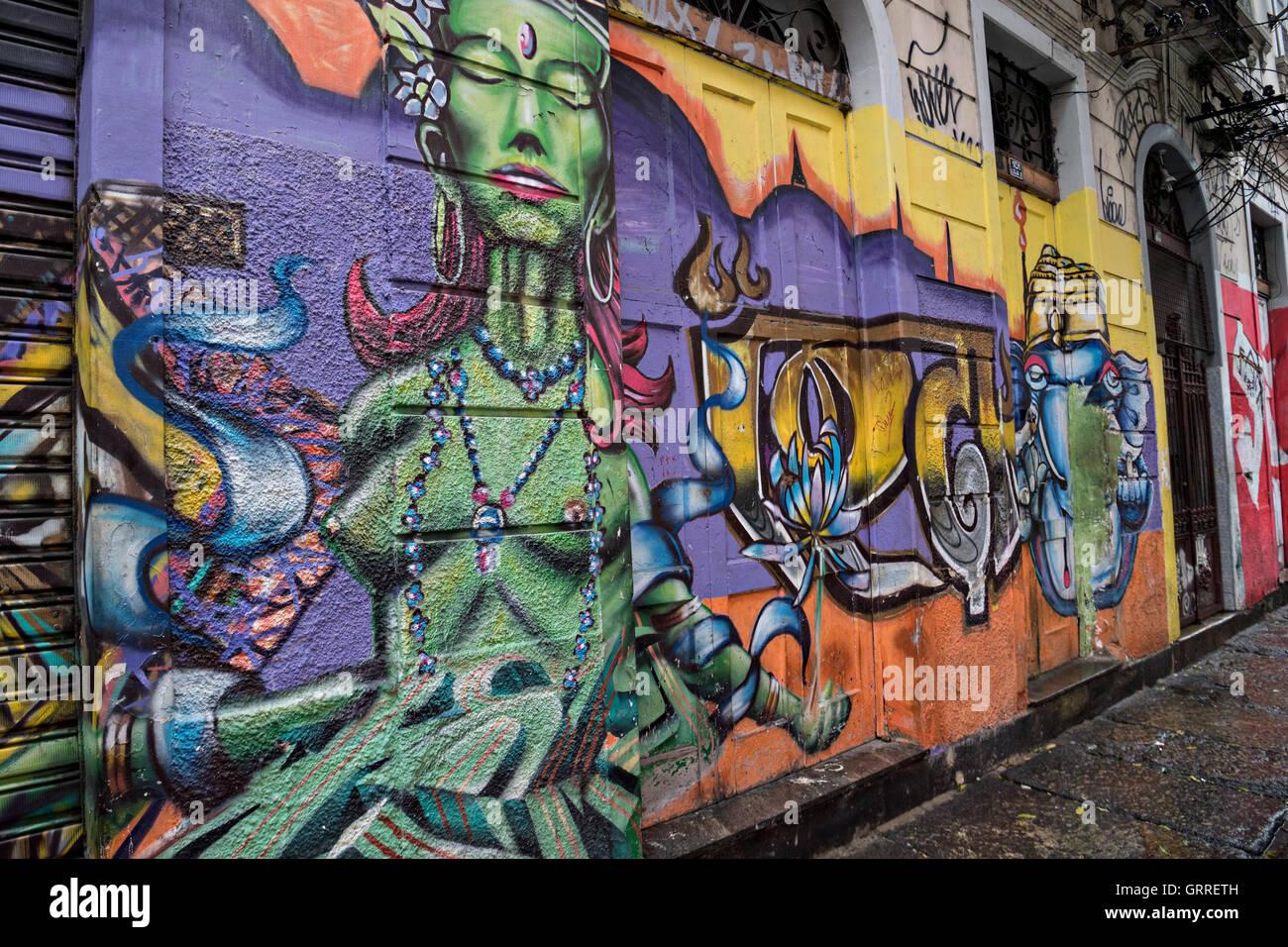 Graffiti wall chelmsford -  Graffiti Art On A Wall In The Lapa Neighborhood In Rio De Janeiro Brazil