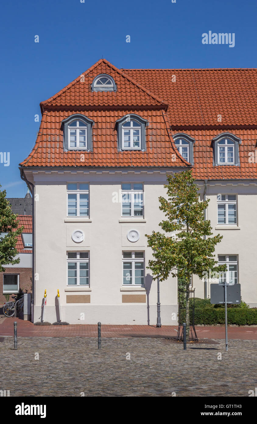 Old Building On The Central Square Of Quakenbruck Germany Stock - Quakenbruck germany map
