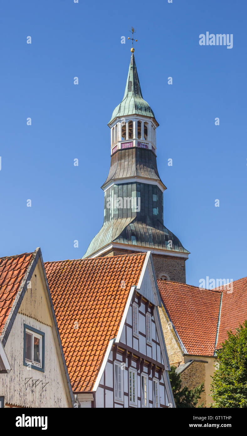 Tower Of The St Sylvester Church In Quakenbruck Germany Stock - Quakenbruck germany map