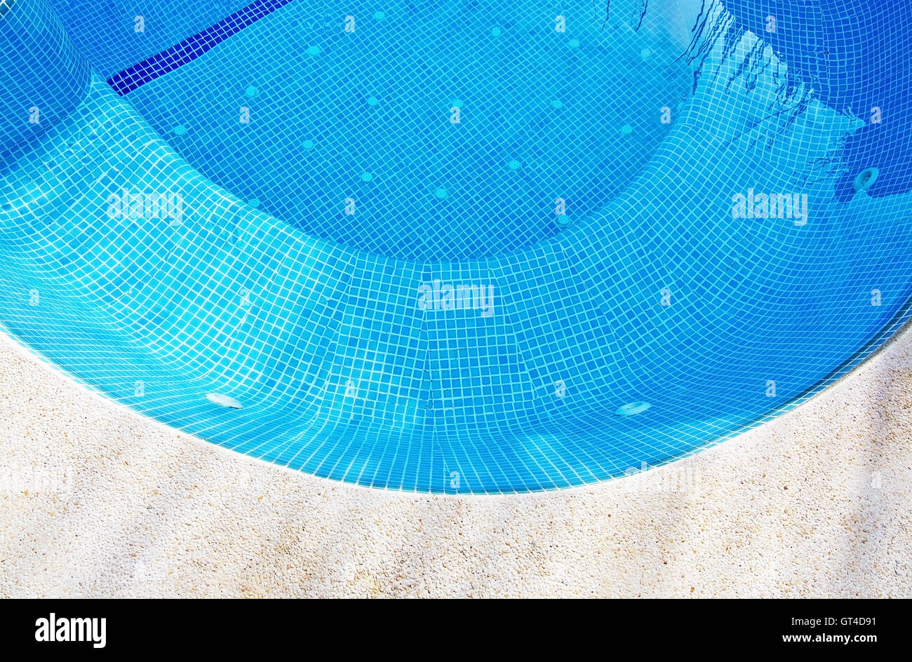 Swimming Pool Background swimming pool background with concrete and blue tiles in a curve
