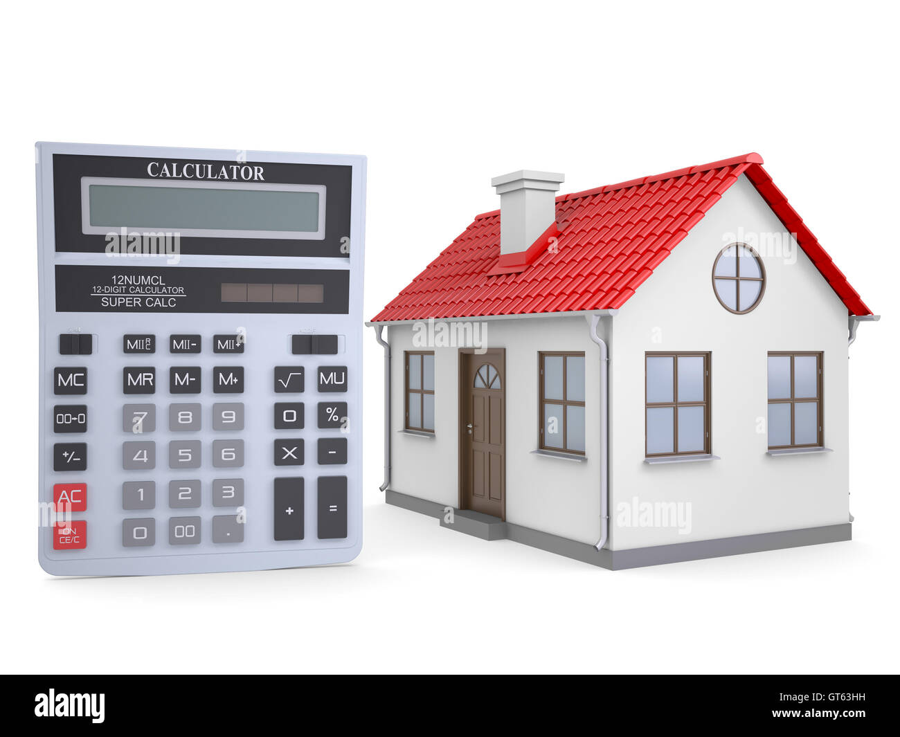 Small house and calculator stock photo royalty free image for Tiny house estimator