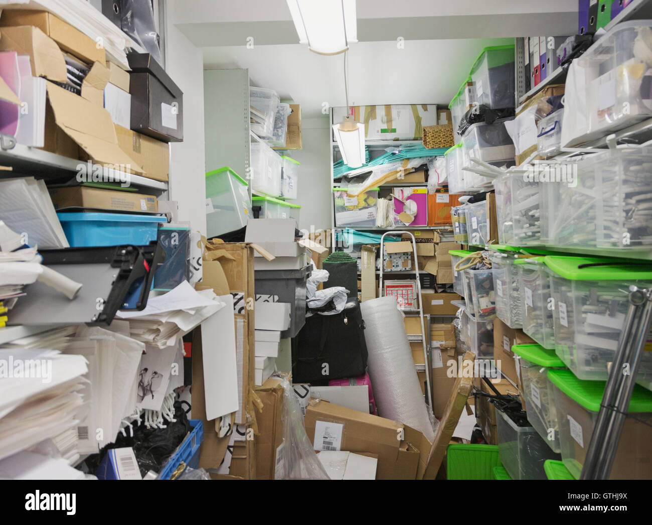 Messy Office Storage Closet