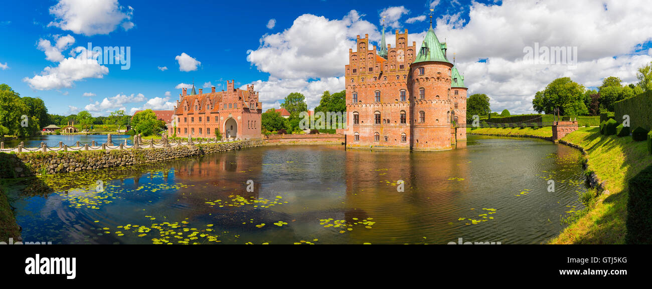 Egeskov Castle Located In The South Of The Island Of Funen - Where is denmark located