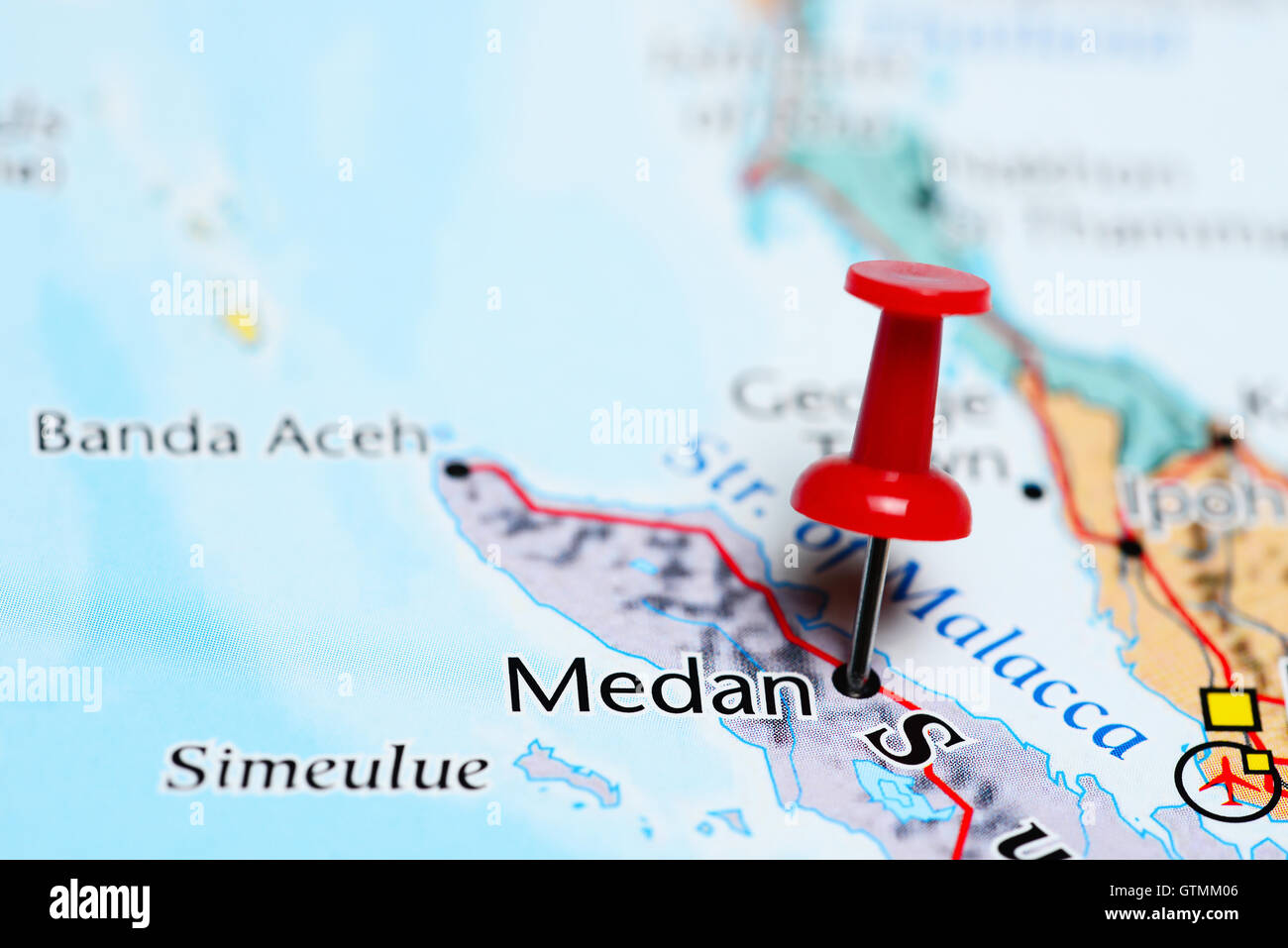 Medan pinned on a map of indonesia stock photo 118468678 alamy medan pinned on a map of indonesia gumiabroncs Gallery