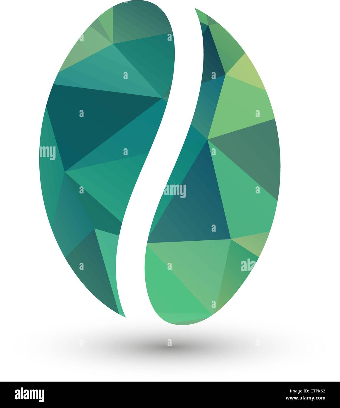 isolated green vector coffee bean logo energetic drink