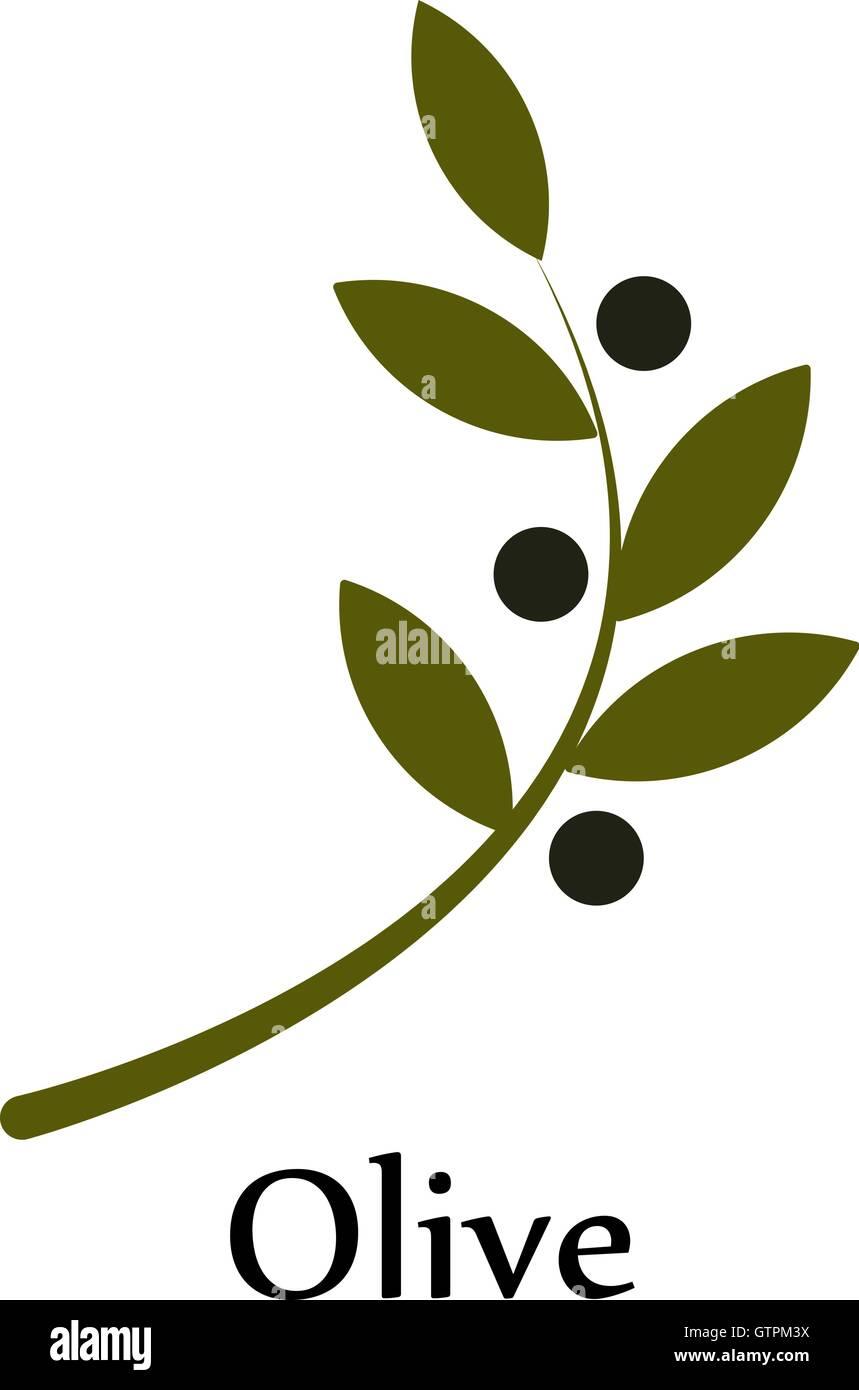 Isolated green vector olive branch logo olive oil sign symbol of isolated green vector olive branch logo olive oil sign symbol of peace greek religious sign mythological iconhealthy produc buycottarizona Choice Image