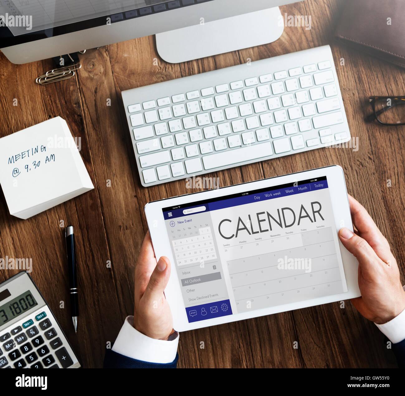 Calendar Date Organizer Planner Concept Stock Photo, Royalty Free ...