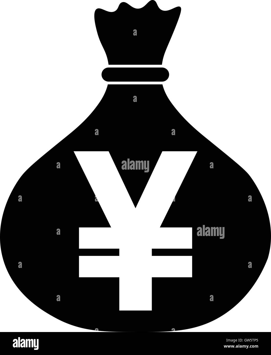Money bag icon with japan yen chinese yuan symbol jpy cny money bag icon with japan yen chinese yuan symbol jpy cny currency symbol vector illustration biocorpaavc Image collections
