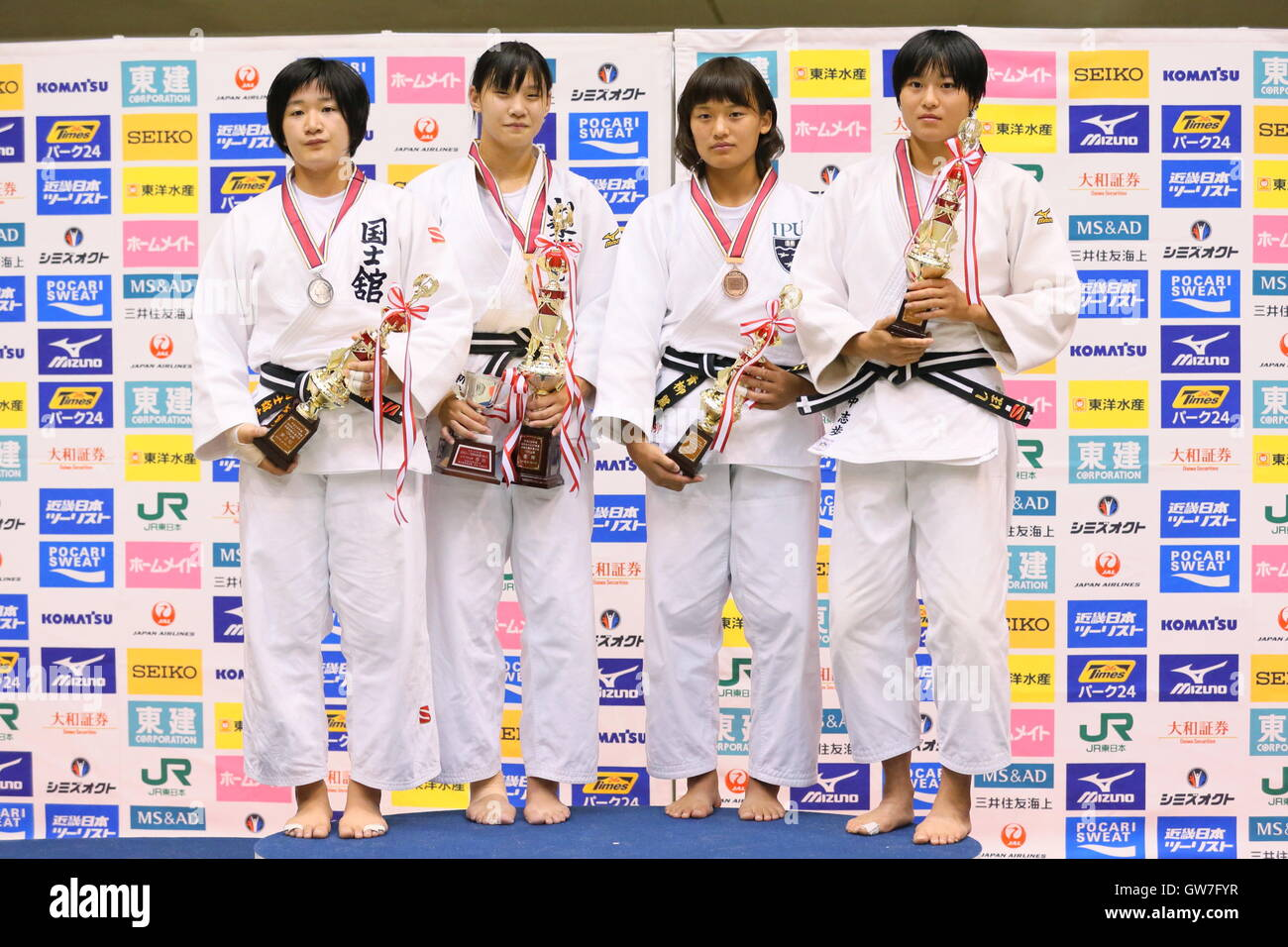 Saitama Japan 11th Sep 2016 L R Erina Ike Saki Niizoe Remi