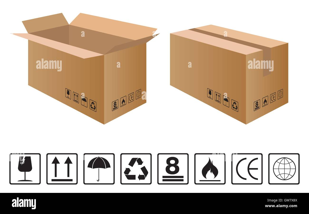 Handle with care box stock photos handle with care box stock fragile box icon cardboard vector symbol sticker care buycottarizona Gallery