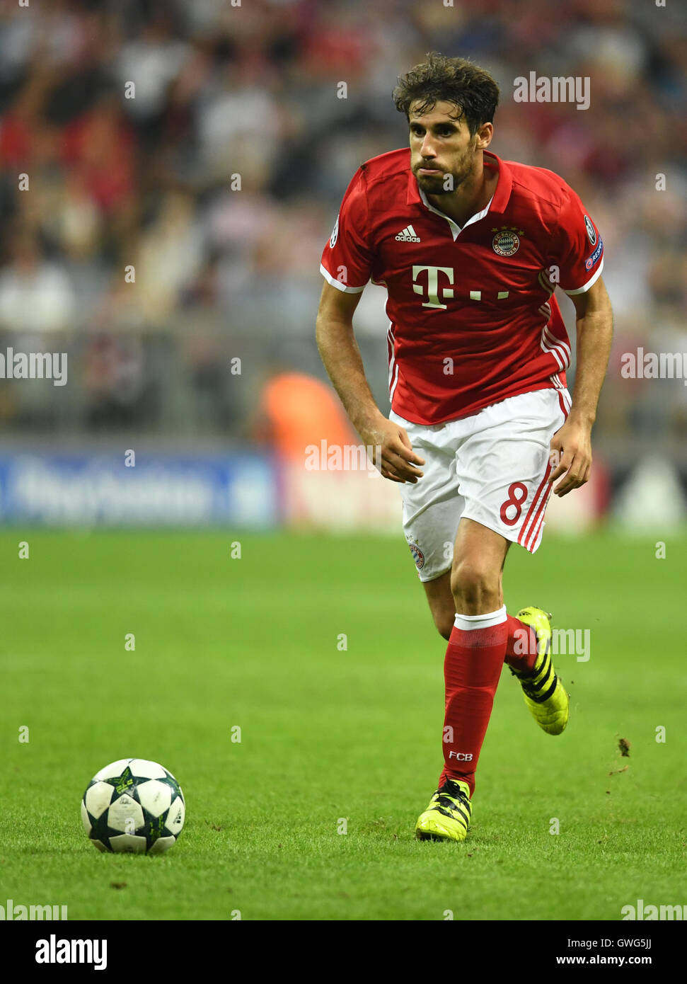Javi Martinez of Bayern Munich in action during the Champions