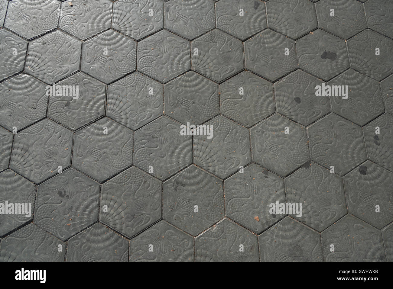 Hexagonal Tiles Designed By Gaudi Line The Main Streets
