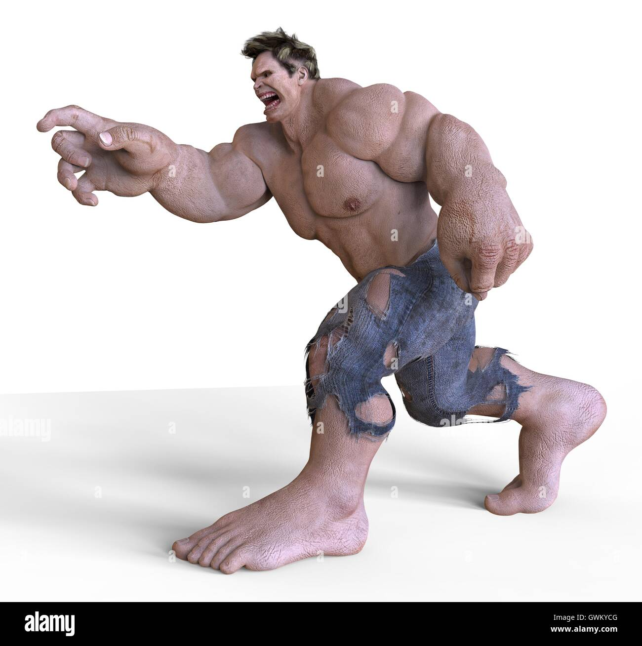 Giant monster 3d illustration stock photo royalty free for Createur 3d