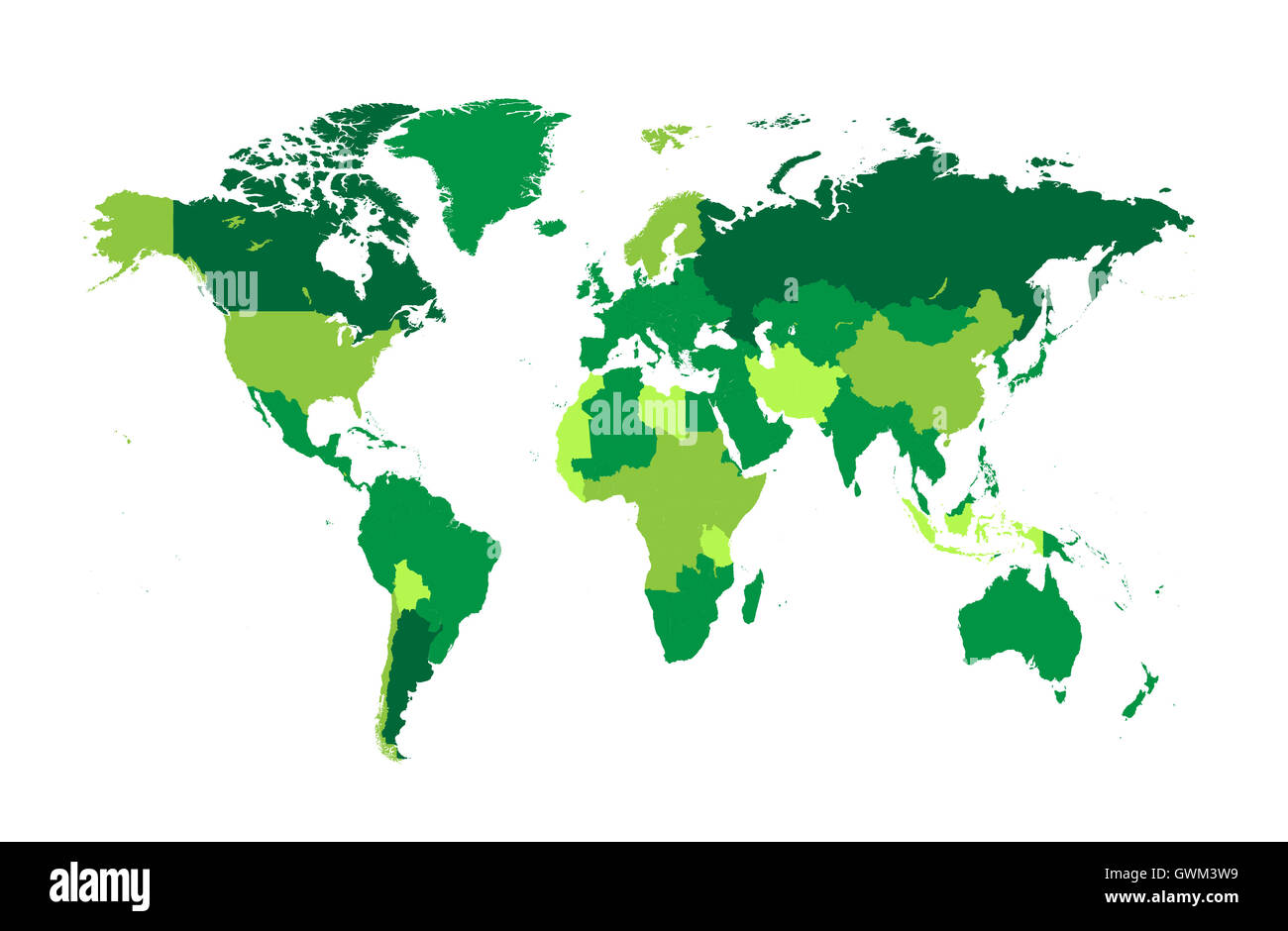 World map vector flat with countries green color stock photo world map vector flat with countries green color gumiabroncs Images