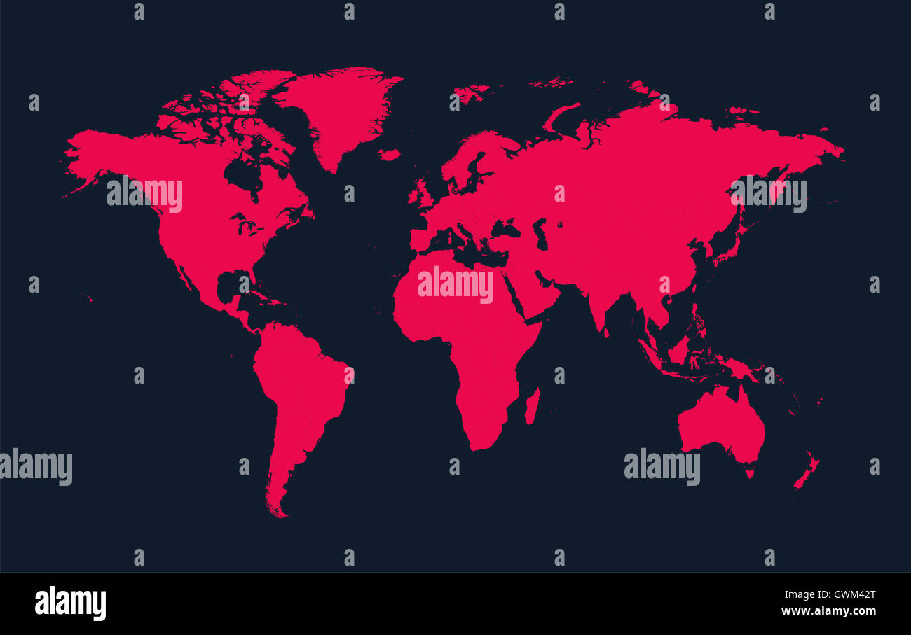 World map vector pink color flat stock photo royalty free image world map vector pink color flat gumiabroncs Image collections