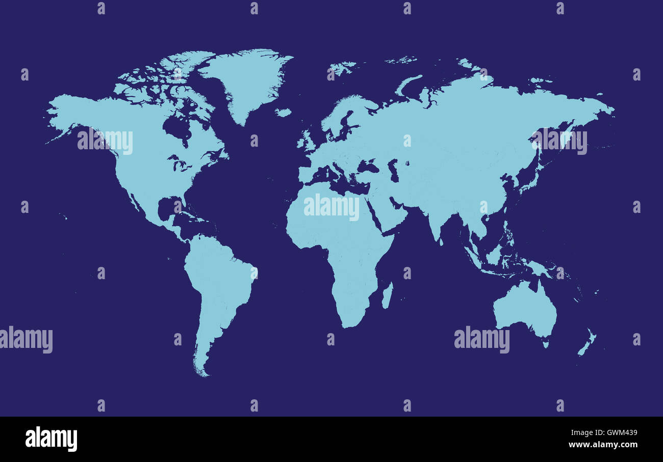 World map vector flat blue color stock photo royalty free image world map vector flat blue color gumiabroncs Images