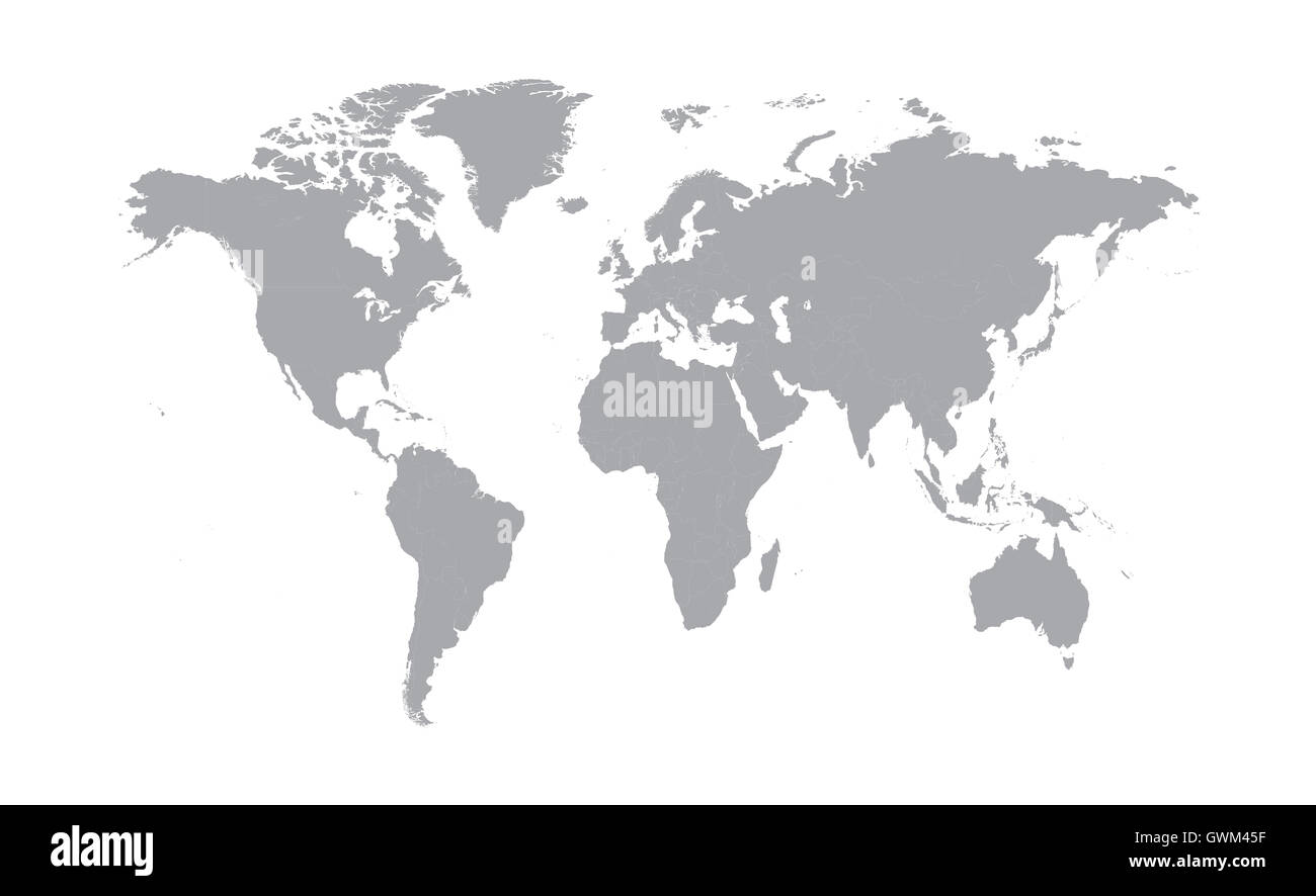 World map vector flat design gray color stock photo royalty free world map vector flat design gray color gumiabroncs Gallery