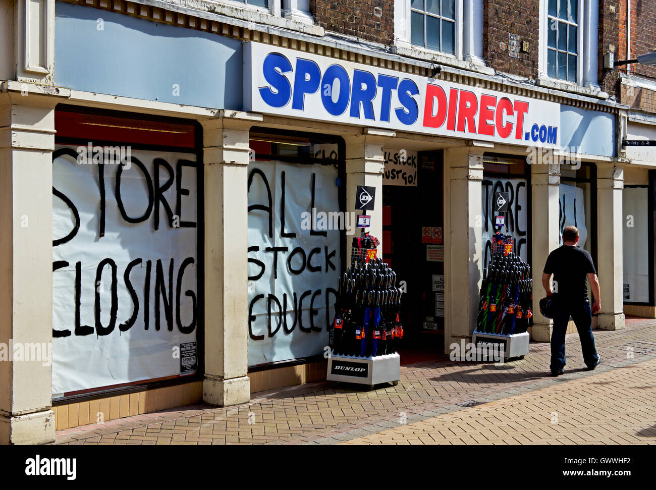 Closing down sale at a branch of Sports Direct, Kings Lynn ...