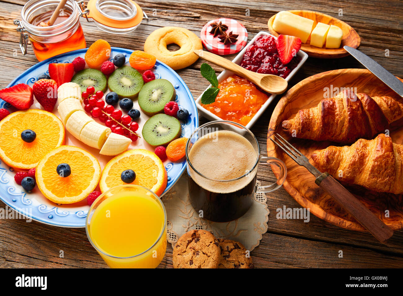 Breakfast buffet healthy continental coffee orange juice for American continental cuisine