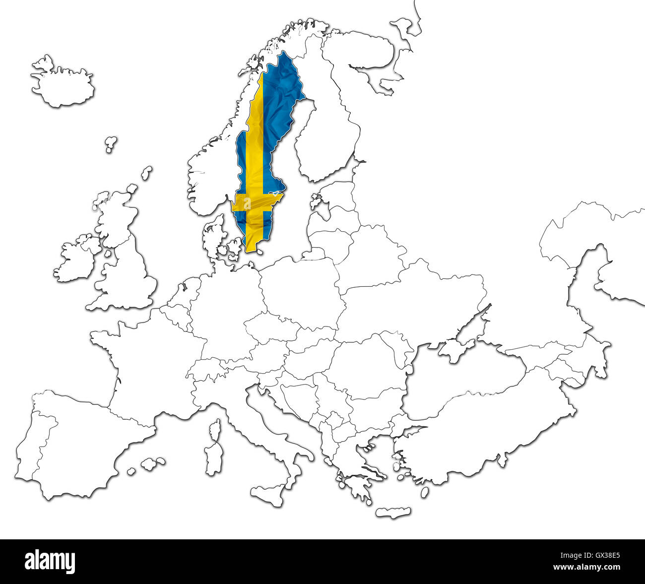 Map Of Sweden Stock Photo Royalty Free Image Alamy - Sweden map search