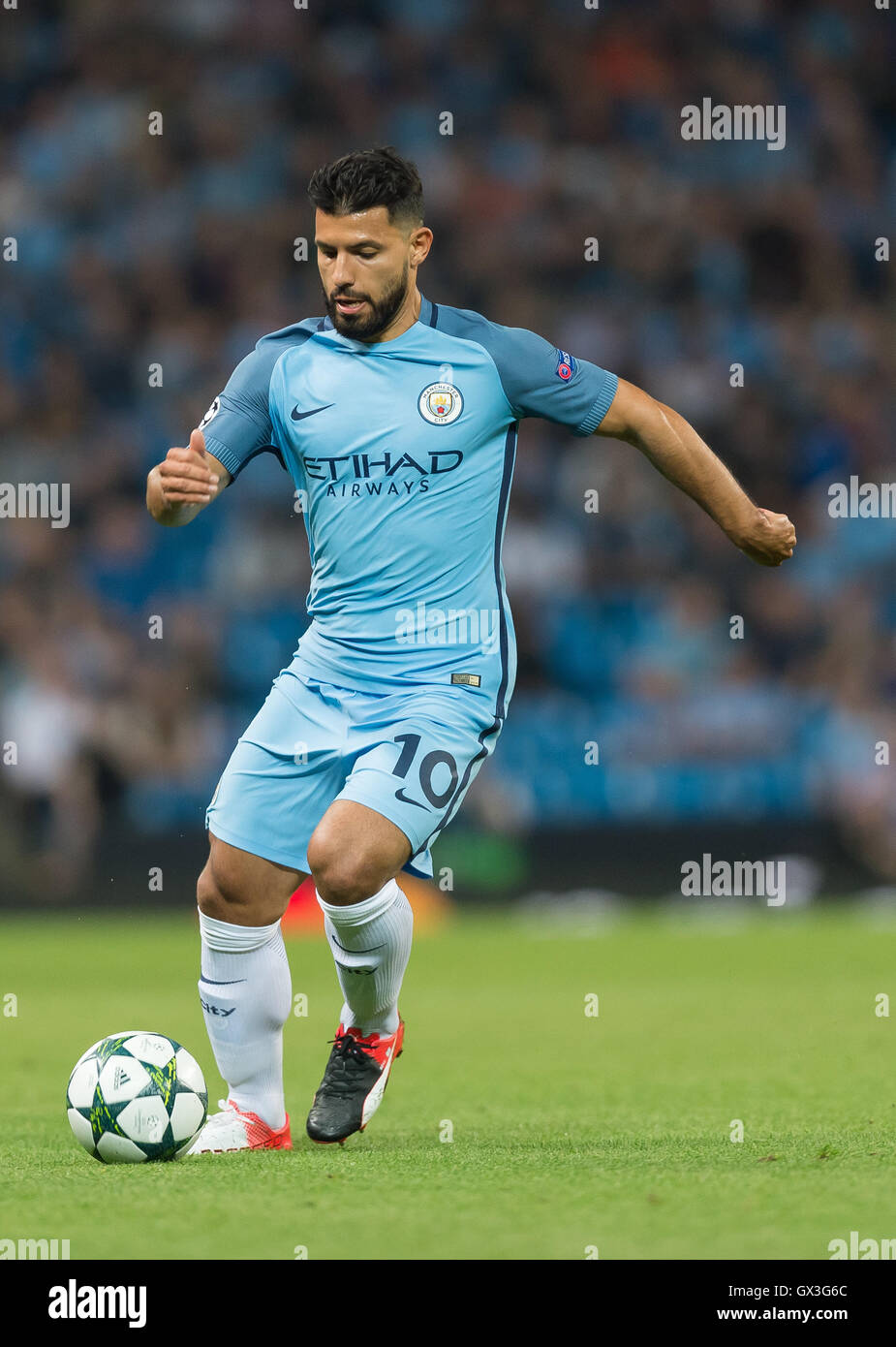Manchester UK 14th Sep 2016 Manchester s Sergio Aguero in