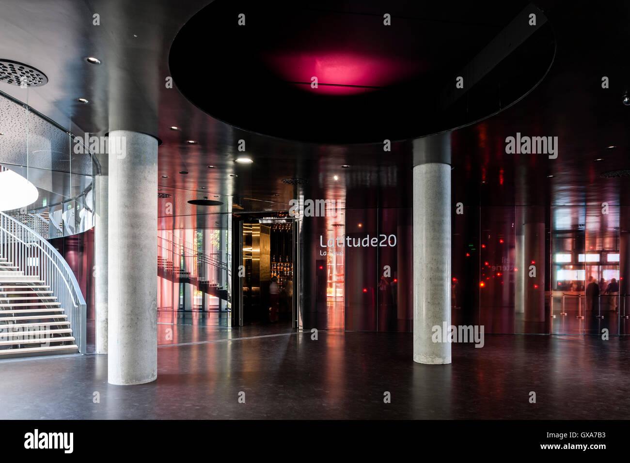 Ground floor lobby and entrance to Latitude 20 panoramic wine cellar ...