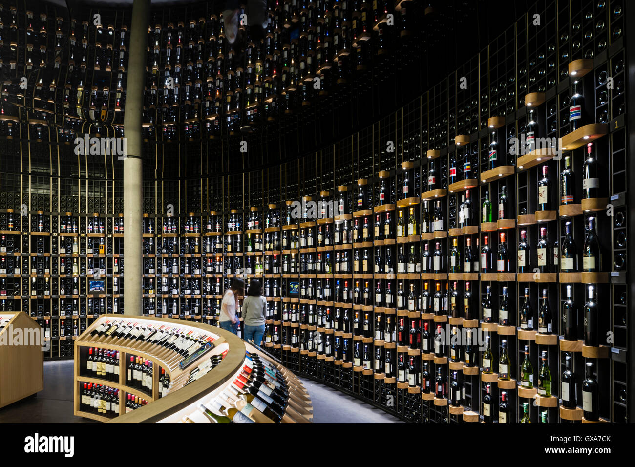 Latitude 20 global wine cellar with more than 14,000 bottles, 800 ...