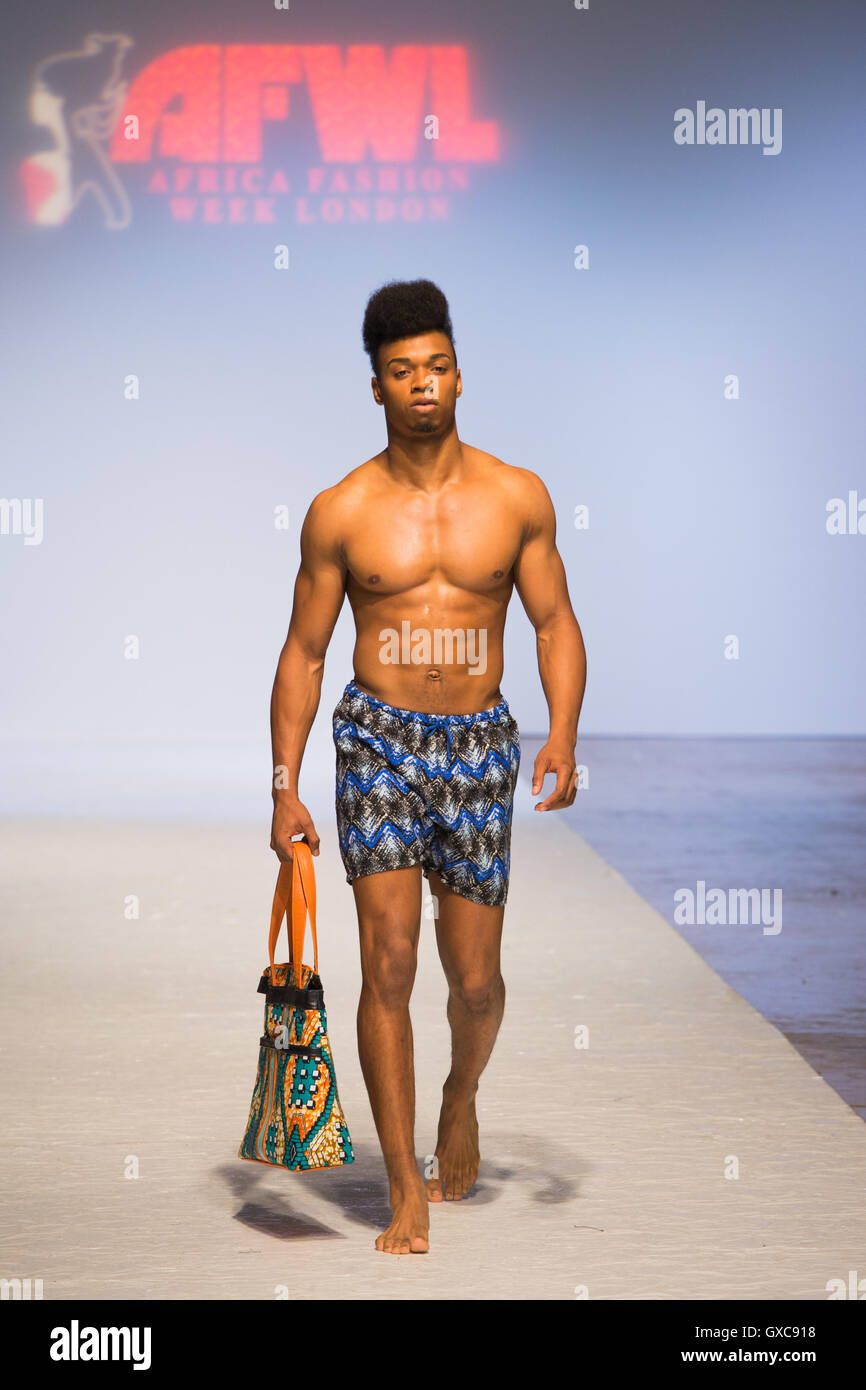 meme bete is showcased at the africa fashion week london model walks GXC918 meme bete is showcased at the africa fashion week london model