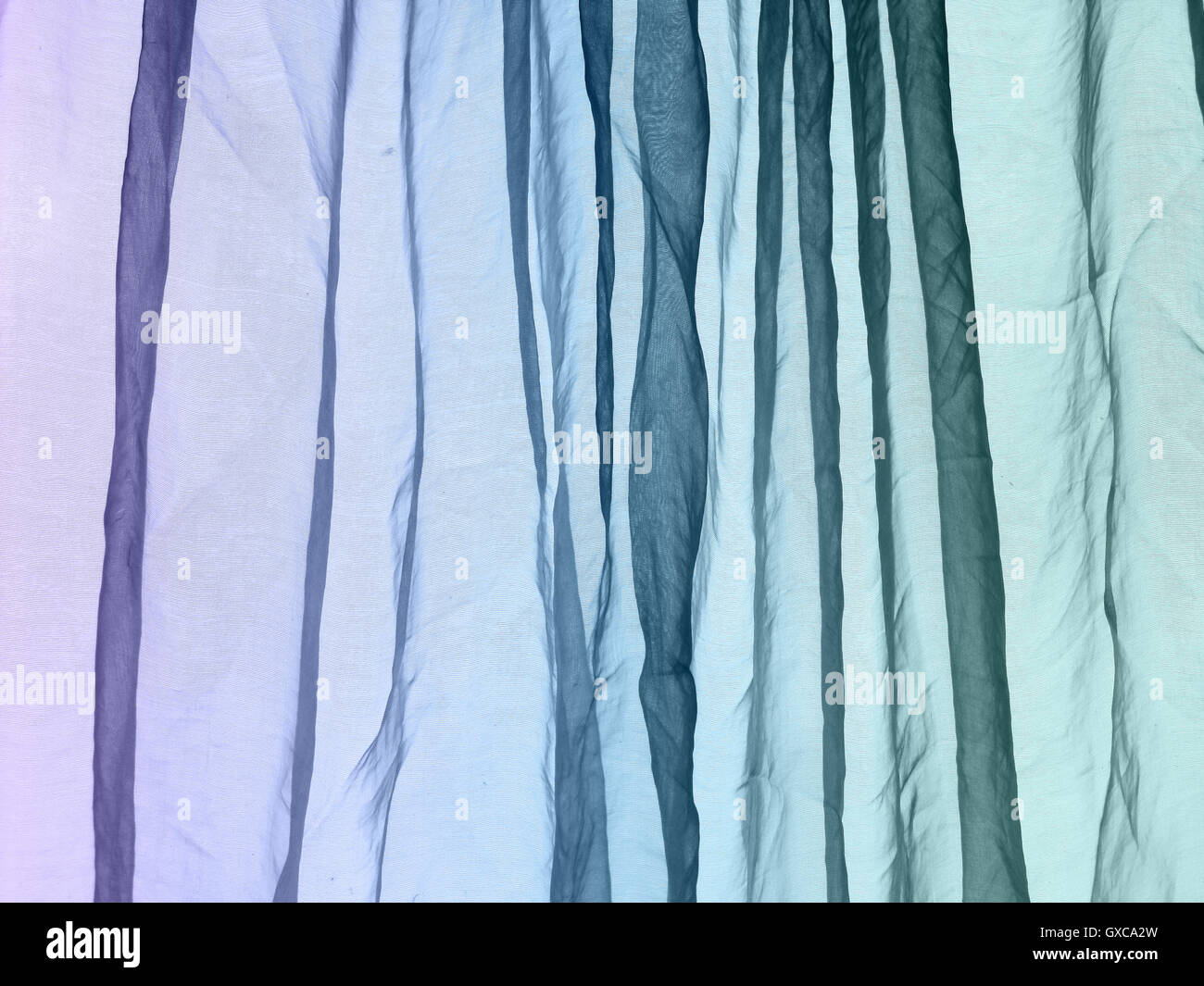 Stock Photo  Voile Curtain Background Purple Blue Green