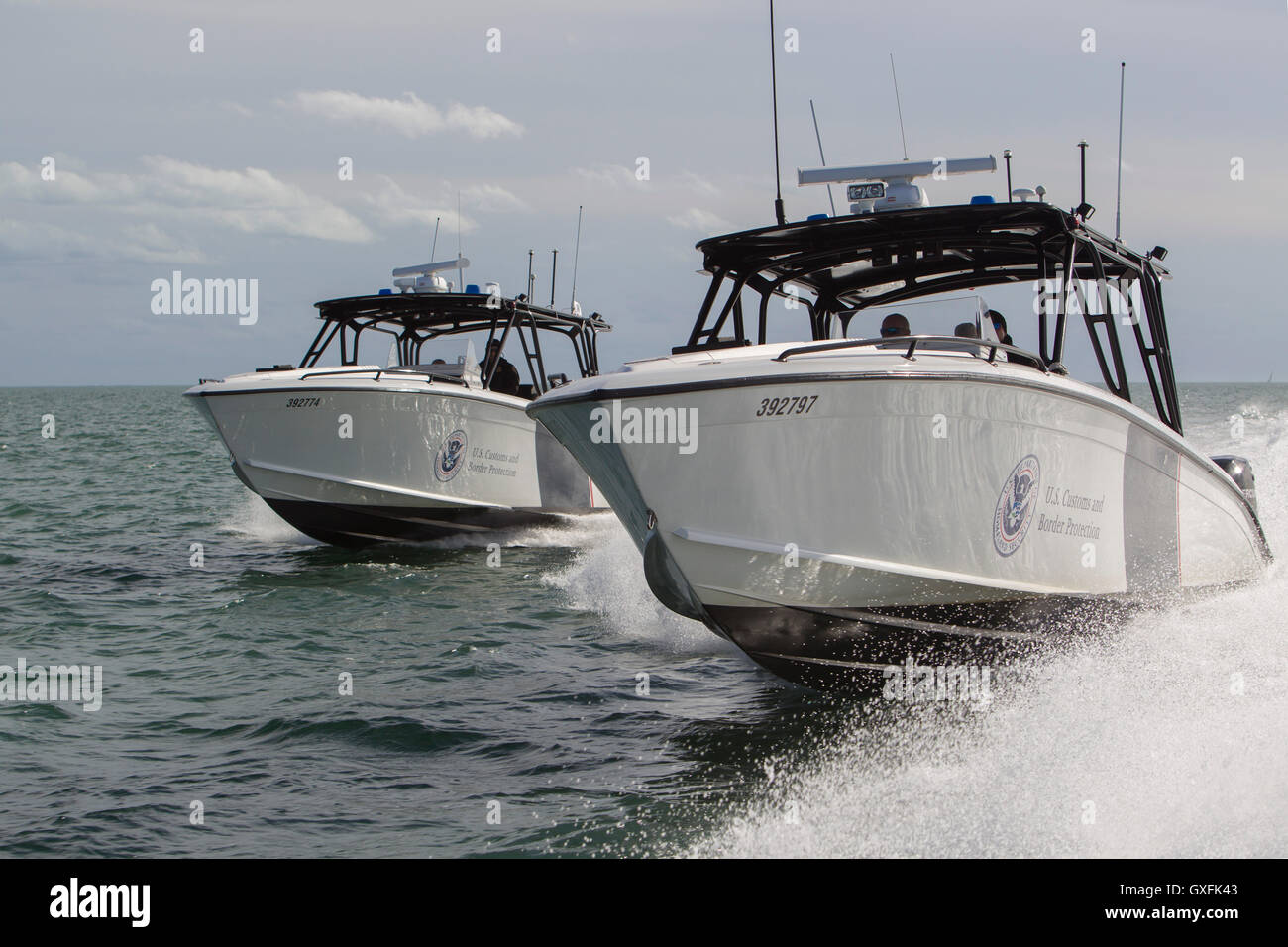 Two US Customs And Border Patrol Midnight Express Interceptor - Us customs miami map