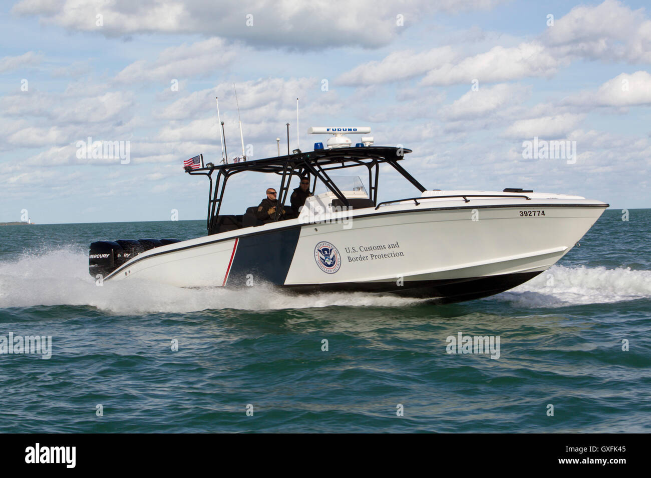 The US Customs And Border Patrol Interceptor Boat Midnight Express - Us customs miami map