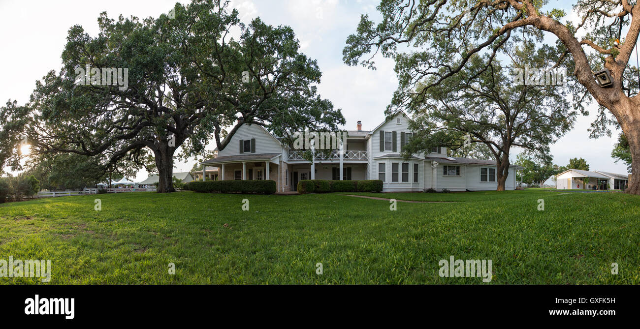 A front view of the lbj ranch house in the lyndon b johnson a front view of the lbj ranch house in the lyndon b johnson national historical park may 14 2015 in stonewall texas also known as the texas white house publicscrutiny Image collections